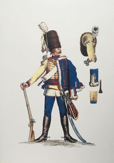 Prussia; 10th Hussars, Hussar by Adolph Menzel