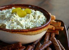 Dill Pickle Dip...so addicting! - Click image to find more popular food & drink Pinterest pins