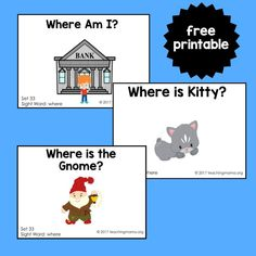 "Sight Word Readers for the Word ""Where"""