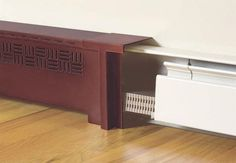 Radiant Wraps - Distinctive slip-on covers for installed baseboard heating units Baseboard Radiator, Baseboard Cleaner, Baseboard Heater Covers, Baseboard Heating, Baseboards, Wood Baseboard, Home Renovation, Home Remodeling, Home Radiators