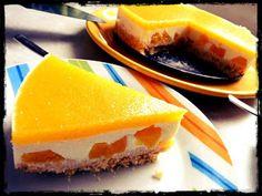 Barackos-joghurt torta (sütés nélkül) Cheesecake, Food, Yogurt, Cheesecakes, Essen, Meals, Yemek, Cherry Cheesecake Shooters, Eten