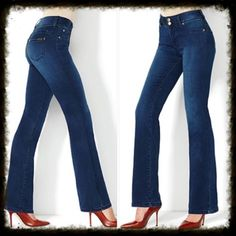 "Stretch Bootcut Jeans IMAN Global Chic ""Slip Into Slim"" Curve Appeal Stretch Boot-Cut Jean Designed with an updated fabrication and distinctive curved seaming detail, this lightweight ""curve appeal"" boot-cut jean enhances your figure in all the right places. The higher back rise creates more coverage and elongates your silhouette. In excellent used condition *15% off bundles *No trades *Reasonable offers are always considered *Happy poshing 🙂 Iman Jeans"