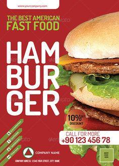 Fast Food Restauran Flyer PSD - Corporate Flyers