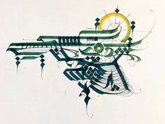 Awesome #concept for an #airship #illustration by Jon Lavalley (@jlavs) which incorporated #calligraphy #patterns and #techniques into a rendition of the #flyingship from the #videogame #FinalFantasyX. The result is a beautifully stylized design like something you might have found in some old #Medieval #manuscript... you know if they had #flying machines in the Dark Ages... Beautiful use of thick and thin lines (that's the calligraphic styles and techniques at work) and the different colors…