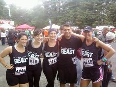 Beauties and the Beast! Team group shot preparing for the race! Try your best! rushordertees.com