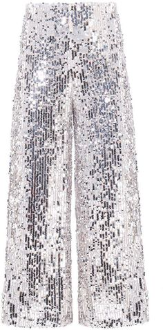 A shining example of modern eveningwear, the Gunnel Culotte is cut in a wide-leg silhouette and embroidered with sequins. Embellished Jeans, Garment Bags, Veronica Beard, Wide Leg, Sequin Skirt, Sequins, Legs, Skirts, How To Wear