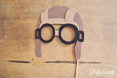 Aviator Hat Photo Prop // Felt Aviator Hat with by Perfectionate, $27.00
