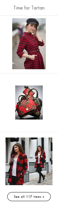 """Time for Tartan"" by auntmidnight ❤ liked on Polyvore featuring skirts, red, red plaid skirt, high waisted mini skirt, wrap mini skirt, plaid mini skirt, blue plaid skirt, pants, leggings and dark olive"