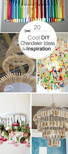 Cool DIY Chandelier Ideas!