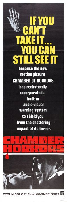 """""""Chamber of Horrors"""" (1966) A sadly obscure horror movie pilot for an aborted television series is highly recommended to Gothic horror mavens, it gets better with subsequent viewings. Lively performances, an en-gross-ing storyline and an exceptionally bombastic score hit all the right horror notes. Stars: Patrick O'Neal, Cesare Danova, Wilfrid Hyde-White, Laura Devon, Patrice Wymore."""