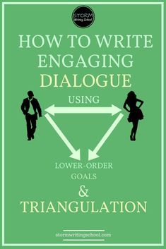 To avoid flat dialogue scenes, learn to triangulate the characters' interaction with a lower-order goal. writing tips, tips for writing, tips for writers, Creative Writing Tips, Book Writing Tips, Writing Quotes, Fiction Writing, Writing Process, Writing Resources, Writing Help, Writing Skills, Dialogue Writing