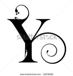 98 Best Alphabets Y Images On Pinterest Letters Typography And