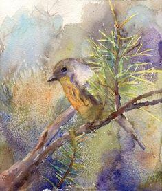 Bluebird Painting.  Elizabeth Evans