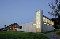 Fire Station in Sulzberg by Thal/Dietrich/Untertrifaller    Sumptuous materials and a well-proportioned stair.