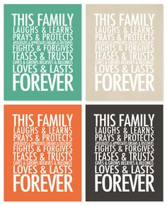 This family is forever quote.