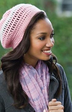 Casual Beret by Erika & Monika Simmons ~ Pattern available FREE on the Redheart Website ~ Thanks!