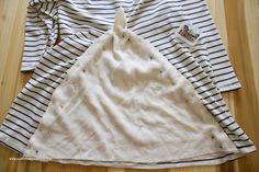Una idea fácil para copiar una blusa de Anthropologie y conseguir unos centimetros extra de anchura