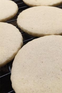 If you love thin, crispy cookies, try baking this old-fashioned tea cake recipe! Simply combine ground nutmeg, vanilla extract, sugar, and all-purpose flour to make this quick and easy dessert recipe. It will soon become your favorite sugar cookie recipe! Favorite Sugar Cookie Recipe, Sugar Cookies Recipe, Cookie Recipes, Dessert Recipes, Cut Out Cookies, No Bake Cookies, Old Fashioned Tea Cakes, Crispy Cookies, Easy Desserts