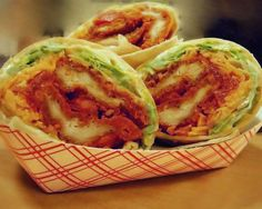 One of the dining halls at my university is well known for their delicious weekly buffalo chicken wraps. Its become an event we call Buffalo Chicken Wednesday. Im a vegetarian, so I would ask for everything but the chicken and order a veggie burger to put in instead. They must have caught on to this because they started offering buffalo tofu wraps along with the chicken. Heres my recipe for wraps that I make at home. Enjoy!