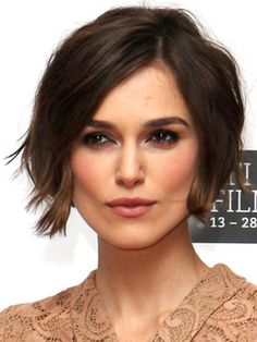 Beautiful Photo of Keira knigthley short hair bob wavy cut Close up View, Take a Look. http://shorthaircutswomen.com/1230/keira-knightley-short-hair-style.html