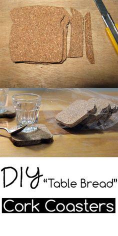 DIY Toast Cork Coasters; looks so neat and easy....I like easy