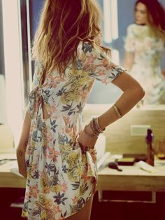 Women's #Fashion Clothing: Dresses:  Free People Part Time Lover #White #Floral Print #Dress: Clothes