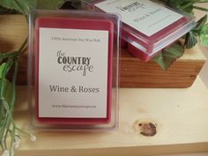 Wine and Roses Scented 100% Soy Wax Melt - Romantic - Maximum Scented on Etsy, $2.95
