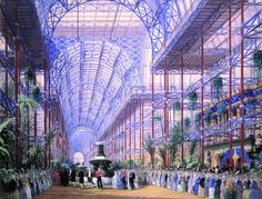 Joseph Nash, The Opening of the Crystal Palace by Queen Victoria, June 10th 1854, Private Collection | Flickr - Photo Sharing!