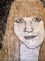 self portraits by 6th graders