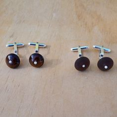 recycled glass cufflinks - Coopers beer bottle