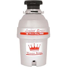 Waste King L-8000 Garbage Disposal Legend Series 1.0-Horsepower Continuous-Feed #WasteKing