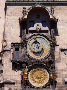 Horloge astronomique, Prague, photo prise  par Valérie Coutrot.