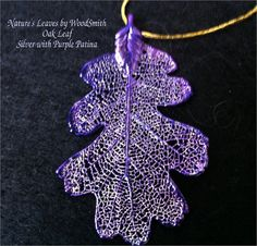 Real Leaves Jewelry Oak Leaf Necklace Pendant Lots of by WoodSmith