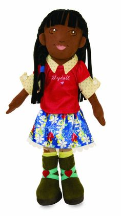 "Lilydoll Isa Manhattan Toy African American 18"" Cloth Classic Play Doll  #ManhattanToy #DollswithClothingAccessories"