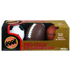 Get outdoors with this set that features classic designs. Each ball is constructed from lightweight foam that's safe for little athletes and easy to control. Sports Toys, Kids Sports, Sports Fanatics, 3 Balls, Operation Christmas Child, Outdoor Toys, Kids Branding, Soccer Ball, Basketball