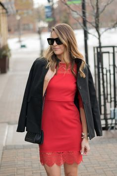 Valentine's Day Look Book, Little red dress, Lace dress   The Styled Press - A Personal Style, Beauty and Lifestyle Blog