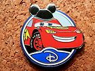 Lightning McQueen Disney Pin - Circle Icon 'D' - Mystery Collection #EasyNip
