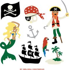 Pirate Clip Art Free Gift From Melissa Contreras - Aeolidia Web Design