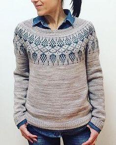 Ravelry: Humulus pattern by Isabell Kraemer Sweater Knitting Patterns, Knitting Designs, Knit Patterns, Pullover Design, Sweater Design, Fair Isle Knitting, Knit Picks, Ravelry, Work Tops