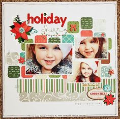 adorable holiday layout