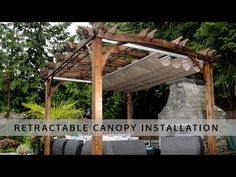 Look at the exceptional designing of this attached pergola design. A wonderful pathway is also created in the middle of the pergola that looks so impressive. Backyard Canopy, Garden Canopy, Pergola Canopy, Canopy Outdoor, Outdoor Pergola, Pergola Shade, Patio Decks, Tree Canopy, Pergola Lighting