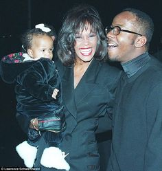 Heartbroken: Bobbi Kristina Brown says: 'I called my mom my Royal Woman'. She's seen here with her parents in New York in 1994