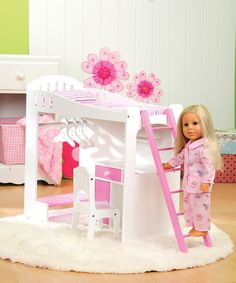Look what I found on #zulily! Loft Bed for 18'' Doll #zulilyfinds