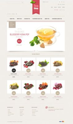 Stunning Tea Store Ecommerce Themes for PrestaShop - Tea Shop Pag Web, Web 2, Flavoured Green Tea, Tea Website, Food Website, Food Web Design, Ecommerce Web Design, Web Layout, Website Layout