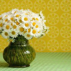 Geometric Flower Blossom Furniture Stencil | Royal Design Studio
