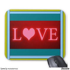 Love Mouse Pad #Love #Heart #Holiday #Valentine #Birthday #Fashion #MousePad