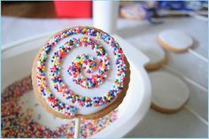 Yippee!!  My cookies are getting some pinterest love! #cookie #pops #rainbow