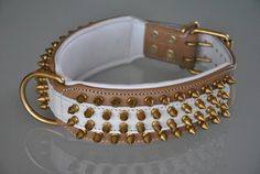 Halsband Bonkar (LBR/WI) * L  - www.Staffs-Exclusives.com - Top Quality 4 Top Dogs!