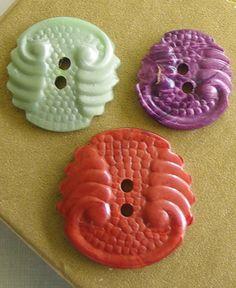 Art Deco casein buttons
