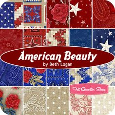 American Beauty Yardage Beth Logan for Henry Glass Fabrics - Fat Quarter Shop